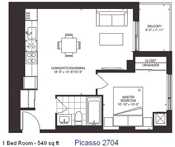 Picasso 2704 Floor Plan  dHOMES.ca